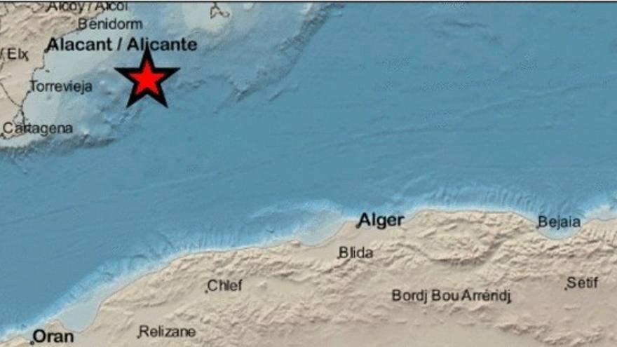 La costa de Torrevieja registra un terremoto de 2,4 de magnitud