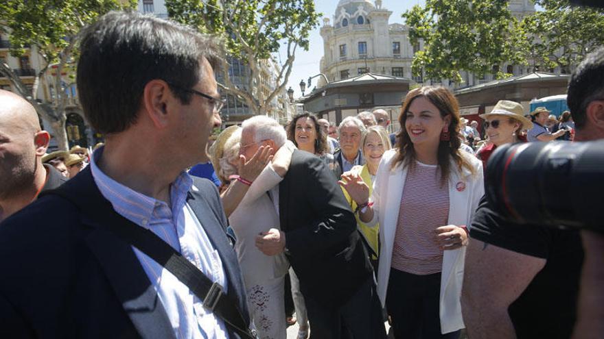 Mitin central de Sandra Gómez