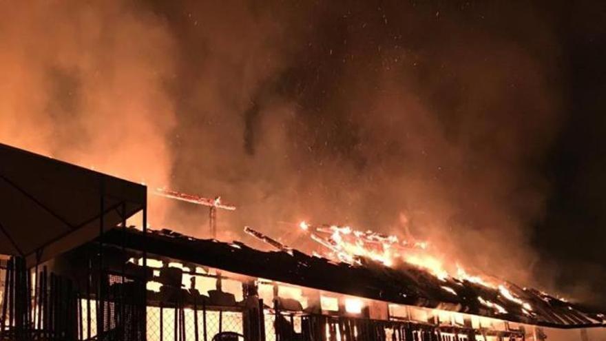 Incendio en A Chavasqueira: las termas de Ourense en llamas