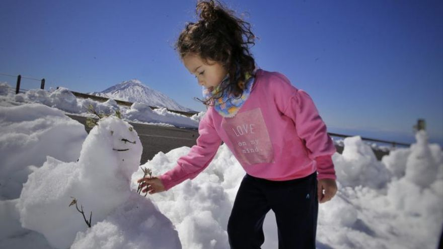 Día de novelería y de fiesta en el Teide