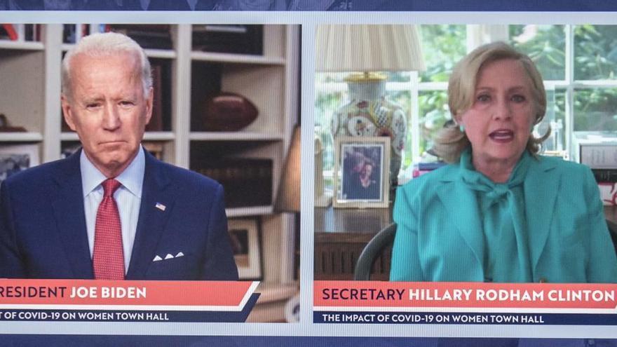 Hillary Clinton respalda la candidatuta de Joe Biden