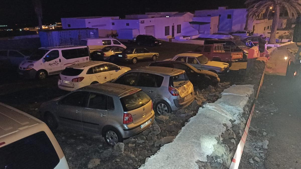 Vuelca un coche en Lanzarote