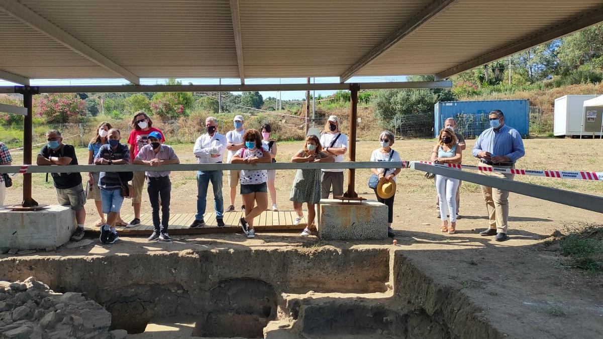 Visita al yacimiento del Cortijo de Acebedo de Mijas