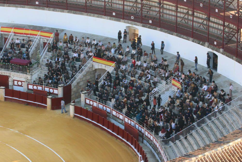 Este martes continúa el rodaje de ''Genius'' en la plaza de toros de La Malagueta