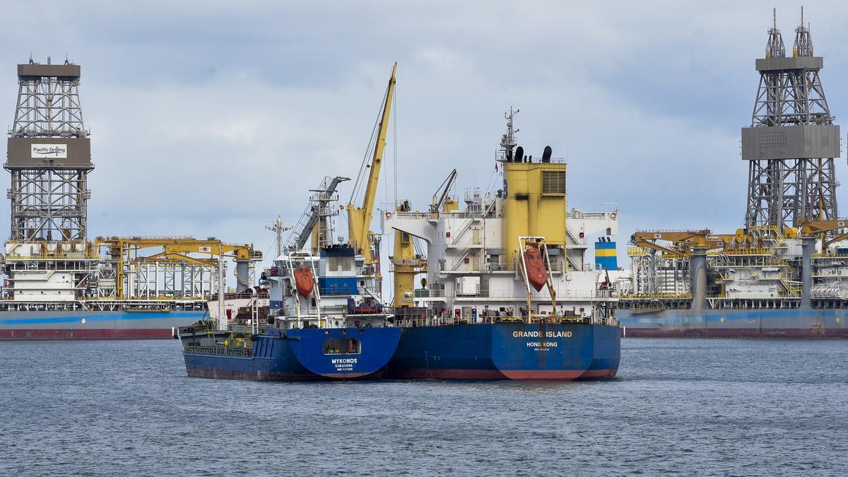 Puerto de La Luz en Las Palmas de Gran Canaria.