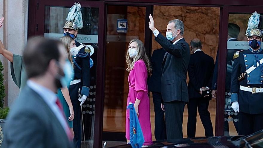 La Familia Real llega al auditorio Príncipe Felipe de Oviedo