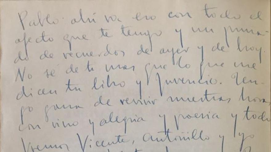 La no carta de Miguel Hernández a Pablo Neruda