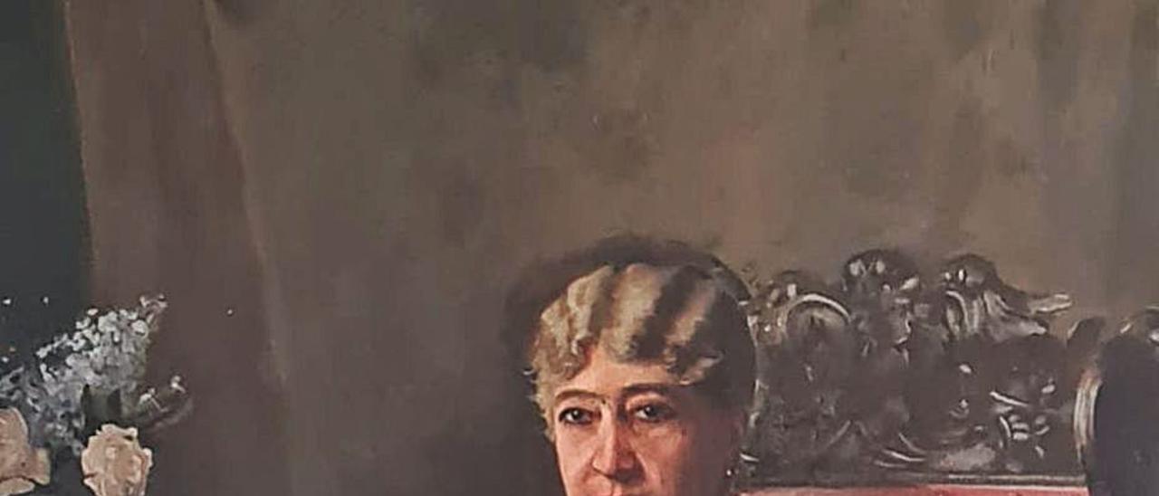 Retrato de Purificación Fontán, marquesa del       Pazo da Mercé.   | // D.P.