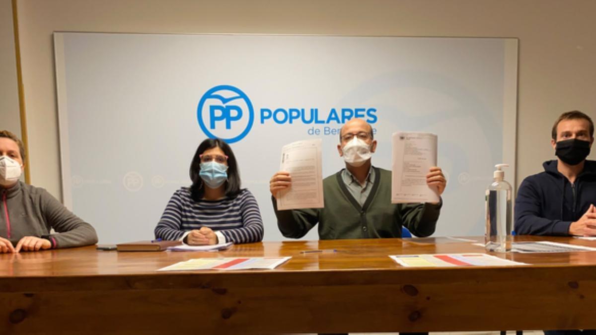 Concejales del grupo municipal del PP en Benavente. / E. P.