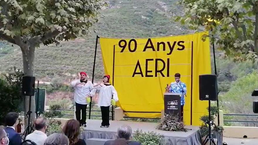 Acció teatral en el marc de la celebració del 90è aniversari de l'aeri de Montserrat