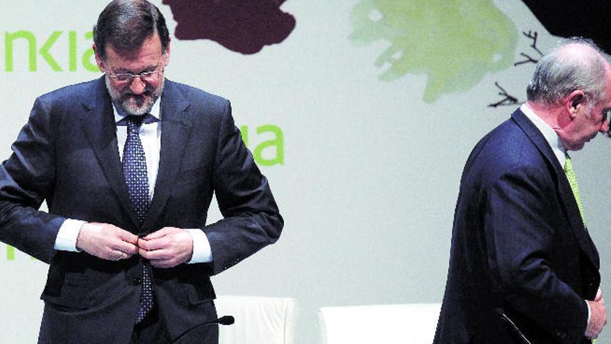 Rodrigo Rato cambia el relato de su salida de Bankia