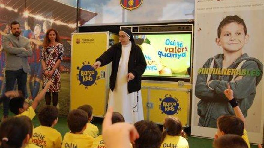 Barçakids arriba a Manresa per promoure els valors que dóna l'esport