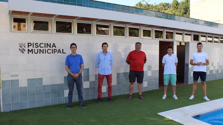 Figueroles estrena piscina con azulejos donados por la firma Equipe Cerámicas