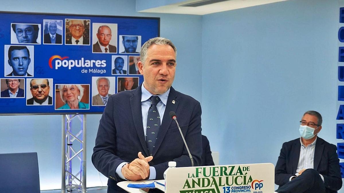 El PP malagueño reeligió a Elías Bendodo como líder al frente de la formación este mismo mes.