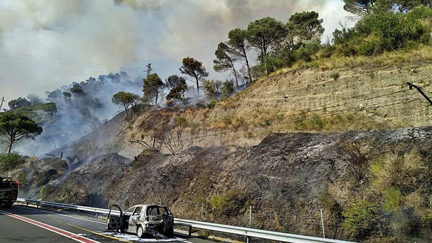 En dos dies van arribar a cremar tantes hectàrees com en cinc anys