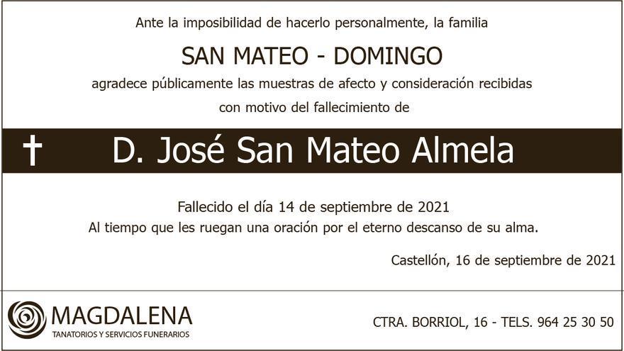 D. José San Mateo Almela