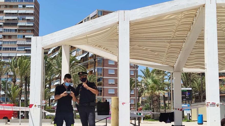 Vigilancia aérea con drones en el operativo del cierre perimetral de Alicante el fin de semana