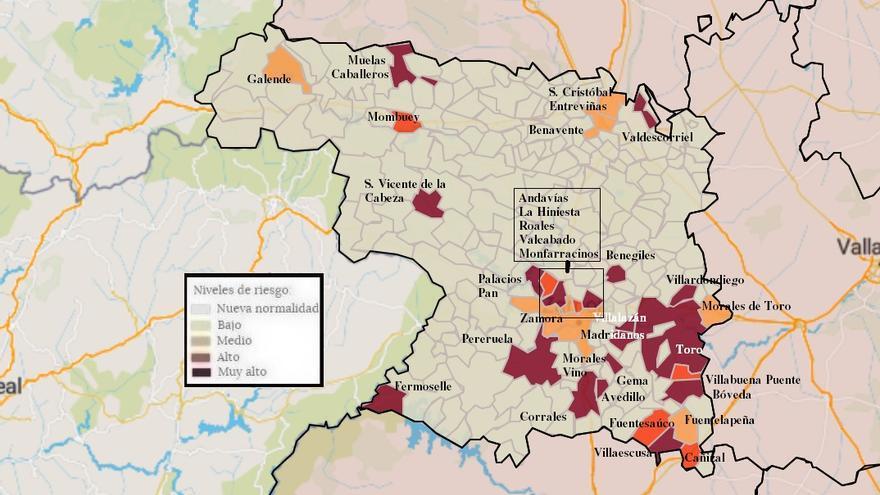 Mapa de coronavirus de Zamora, hoy, lunes | Galende y Valcabado, con contagios del coronavirus