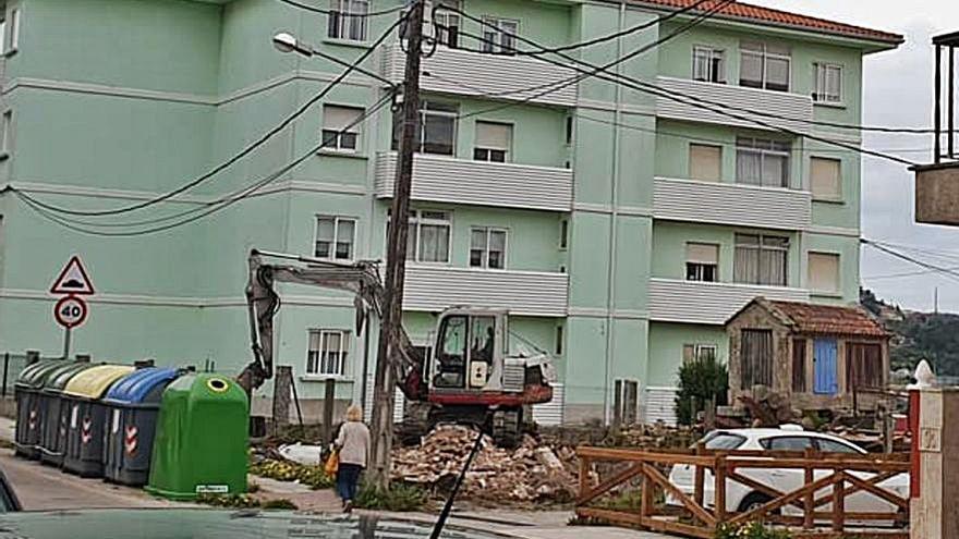 Avante critica el inicio de obras junto al local social de Vilariño