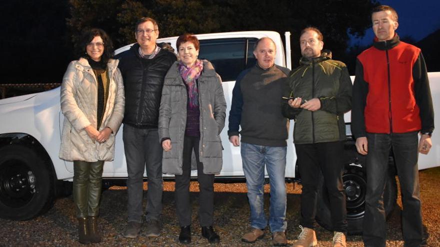Rotary Club del Berguedà compra un vehicle a la brigada de jardineria del Taller Coloma