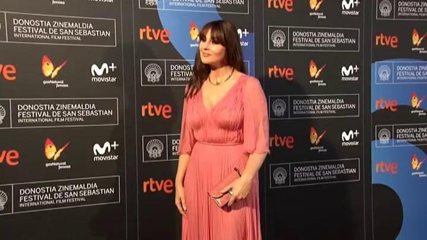 "Monica Bellucci se despide de Donosti con un ""gracias, España"""