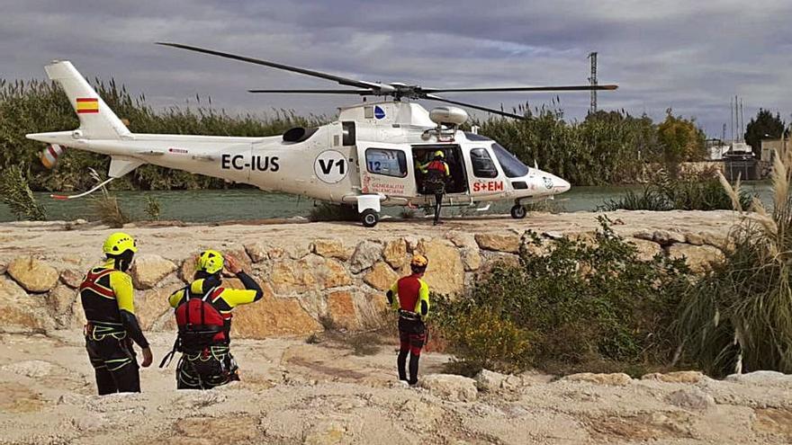 Prácticas de rescate aéreo en Cullera