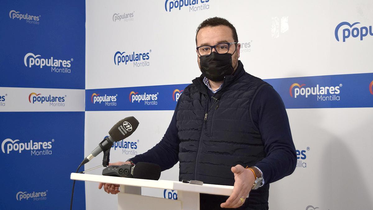 Javier Alférez, portavoz del PP en el Ayuntamiento de Montilla.