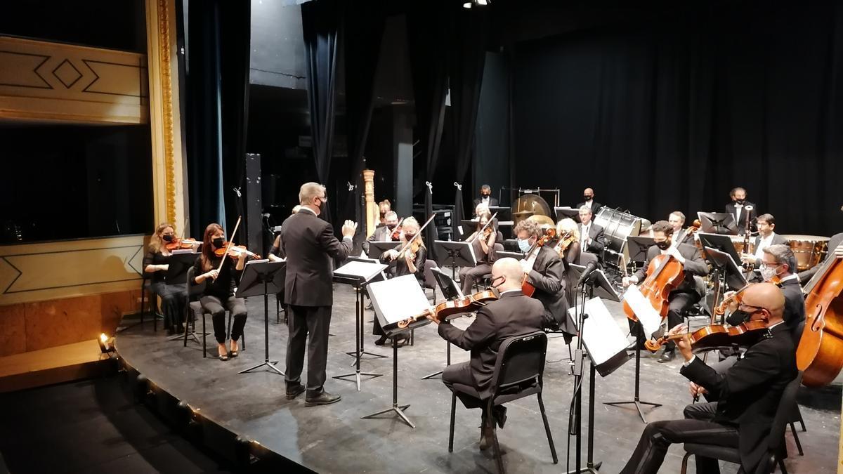 La Orquesta Sinfónica de Castilla y León interpreta una obra en la pasada edición del festival