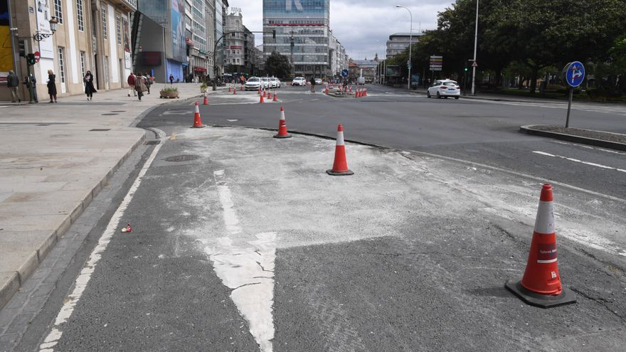 Obras de peatonalización en los Cantones