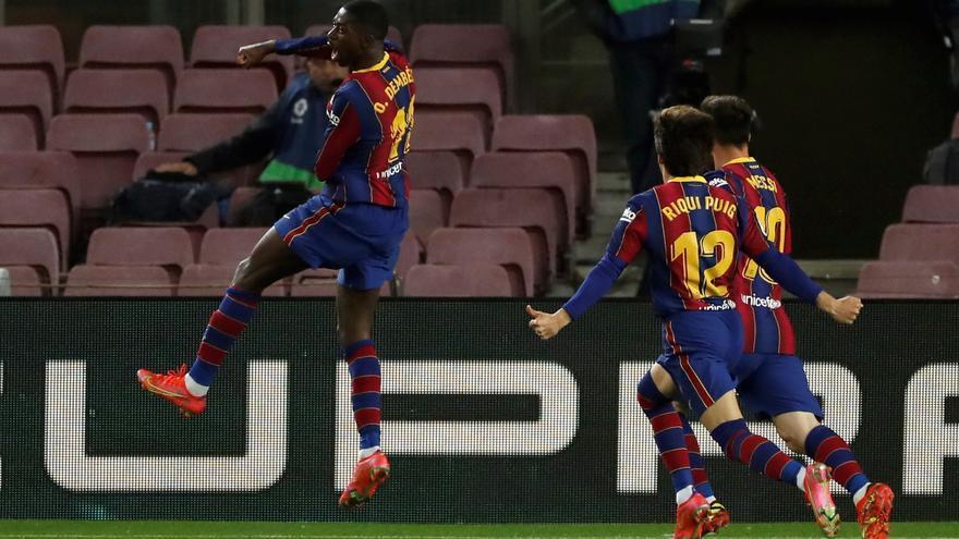 Todos los goles de la jornada 29 de LaLiga: Dembélé pone al Barça a un punto del líder