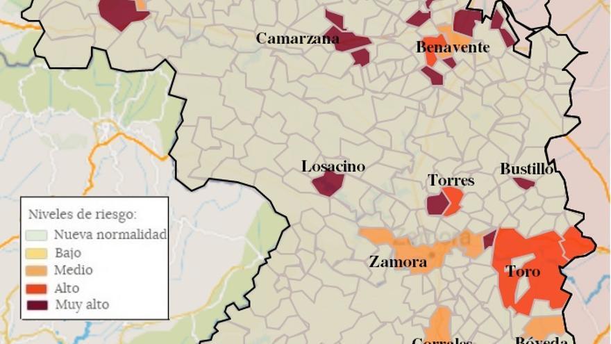 Mapa de coronavirus de Zamora, hoy, jueves | Sólo 24 pueblos tienen casos de COVID