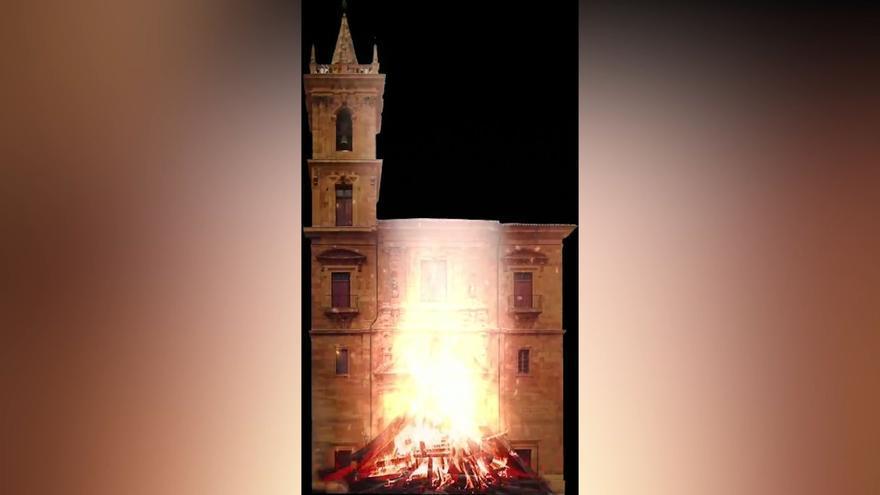 Fuego virtual para el último San Juan con mascarillas en la calle