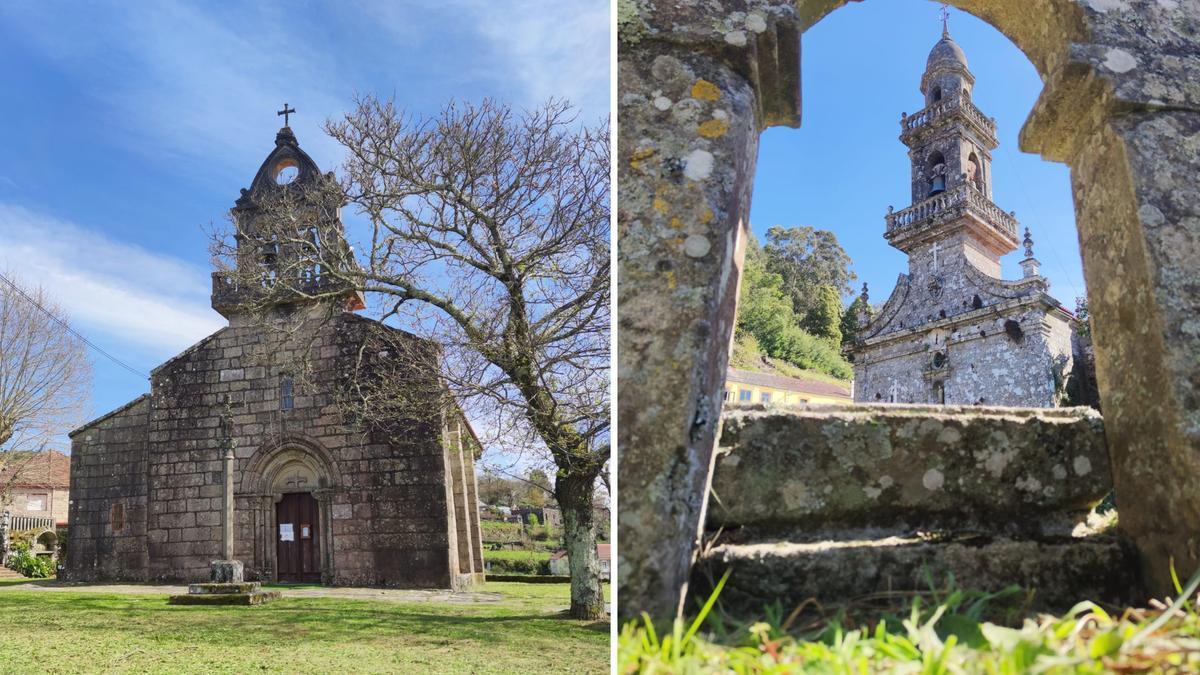 Iglesias de Santa María de Tourón y Santa Eulalia, en Ponte Cadelas.