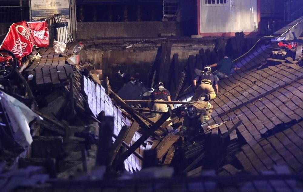 Accidente en O Marisquiño de Vigo: 300 heridos