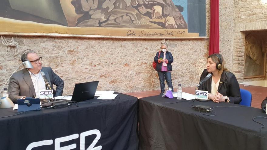 Aquí, amb Josep Cuní, de SER Catalunya, s'ha emès aquest matí des del Museu Dalí