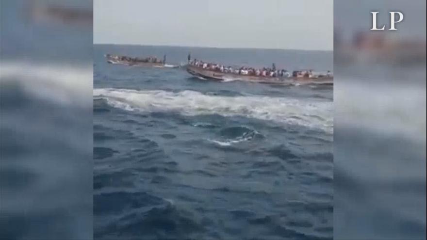 La marina senegalesa detiene varios cayucos que partieron hacia Canarias