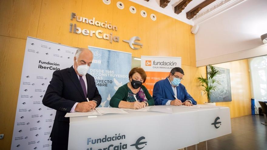 Fundación Ibercaja y Fundación CAI renuevan su apoyo al plan de prevención de adicciones del Centro de Solidaridad