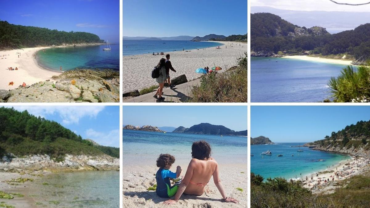 Varis de las playas que hay en las islas Cíes