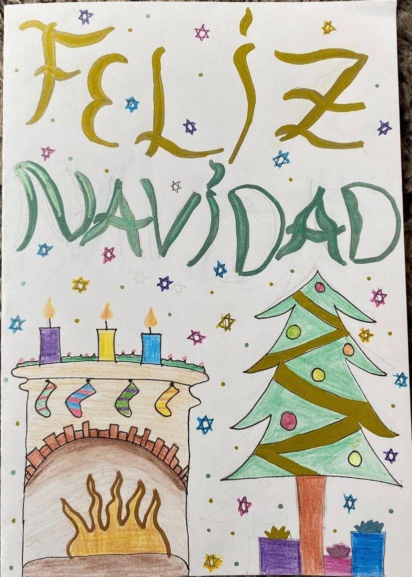 Postales de Navidad del colegio Amor de Dios de Toro