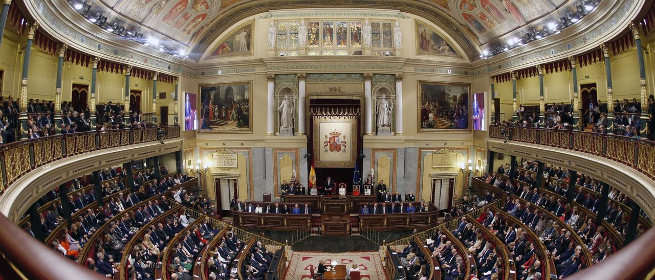 Una imagen del exterior del Congreso de los Diputados.