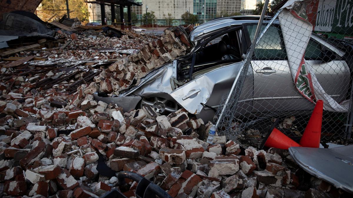 Destrozos provocados por el huracán Ida en Louisiana.