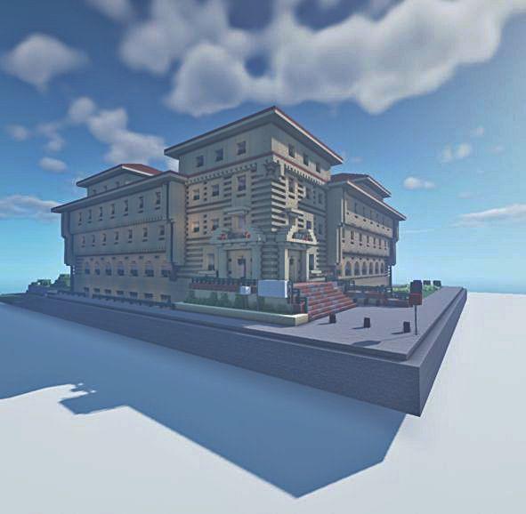 En detalle, una vista del edificio, en su estado actual.