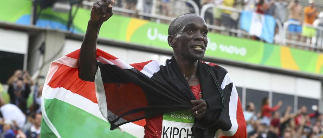 El keniata Kipchoge, campeón olímpico de maratón