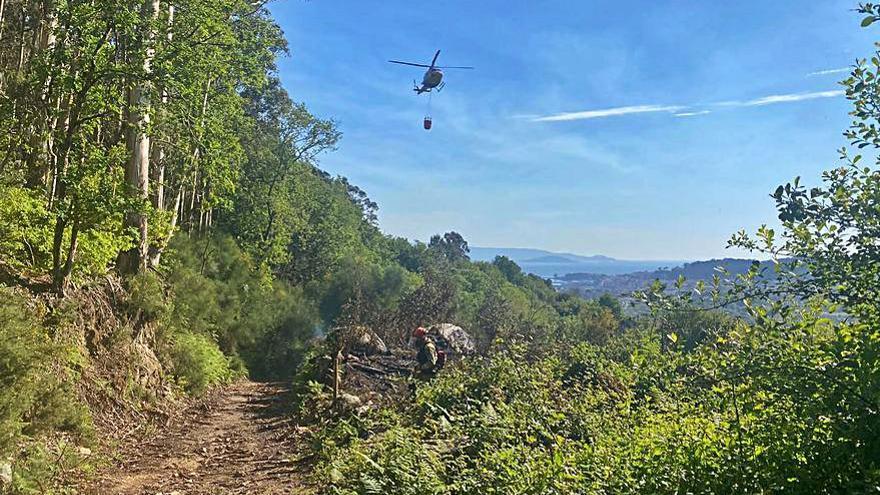 Un escape de quema provoca un incendio en Coiro