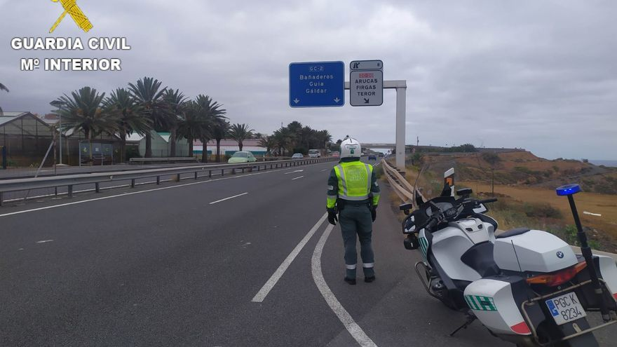 'Cazado' un motorista cuando circulaba a 173 kilómetros por hora en Arucas