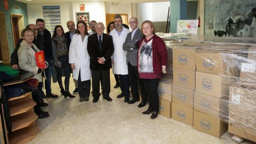 Donación de alimentos en el área sanitaria