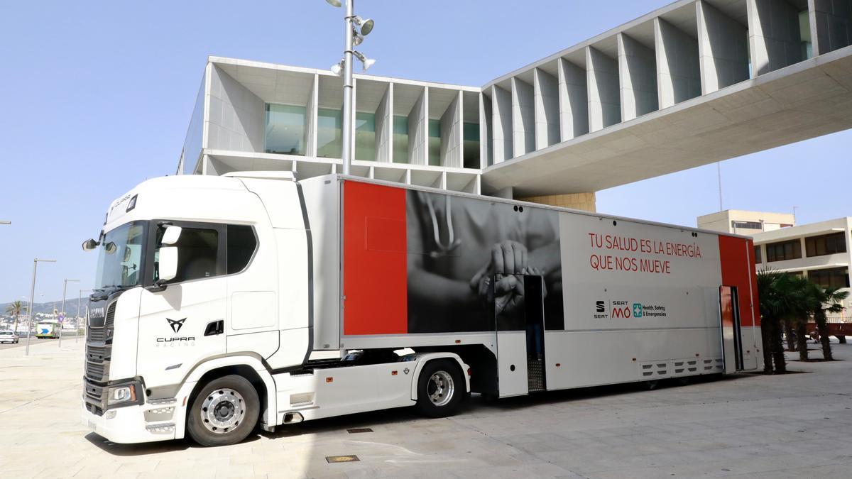 Camión de vacunación