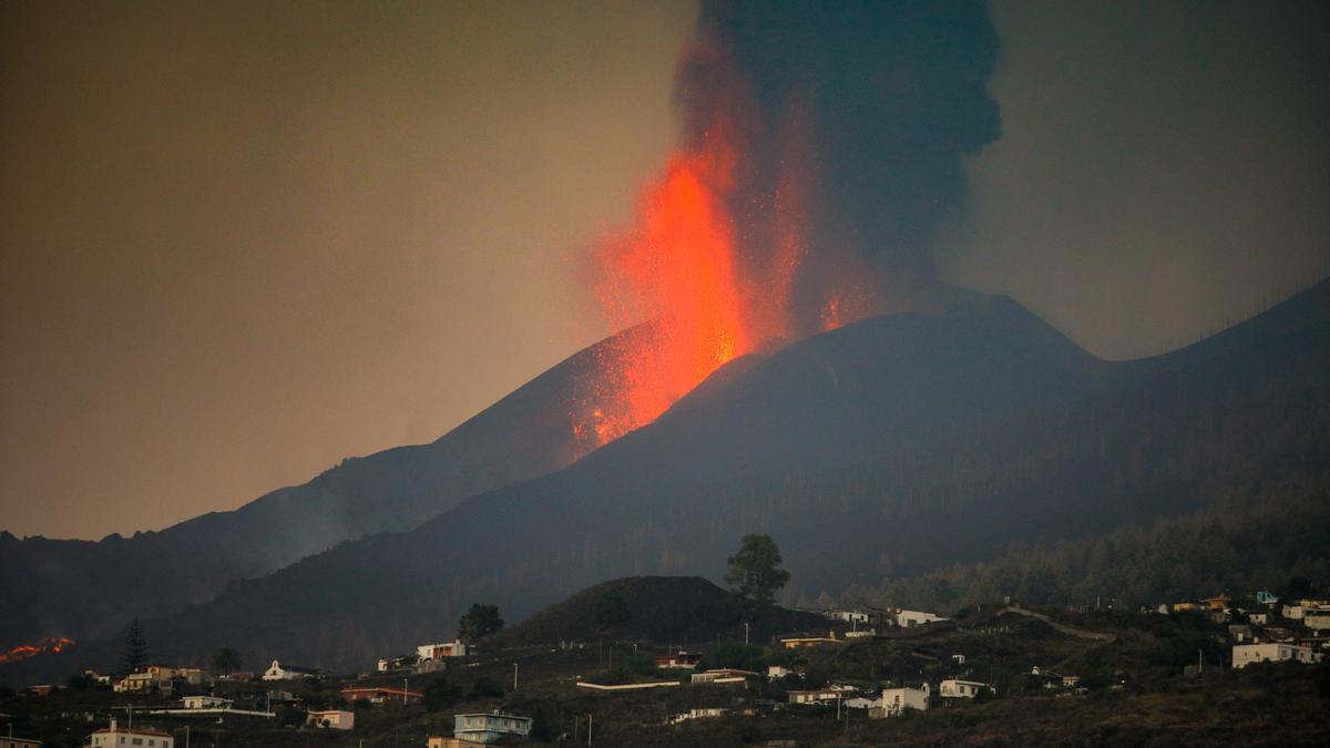 Una imagen del volcán de Cumbre Vieja.