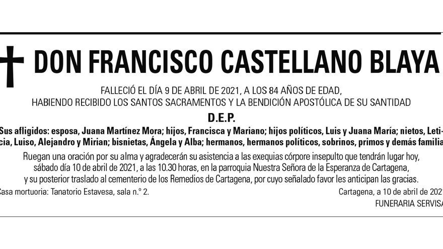 D. Francisco Castellano Blaya
