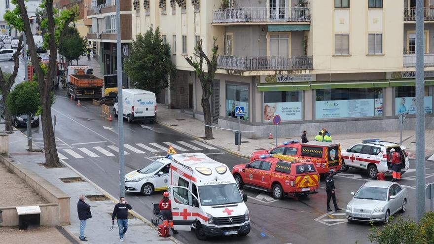 Escape de gas junto a un centro de día en Ronda del Pilar a causa de una obra